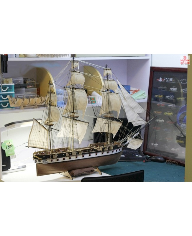 "USS Constellation 1843 Scale 1/85 40"" Wooden ..."