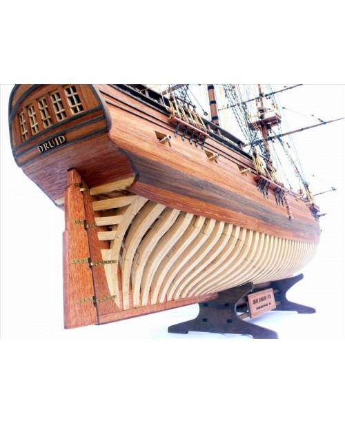 "HMS Druid 1766 Scale 1/50 900mm 35.4"" full ri..."