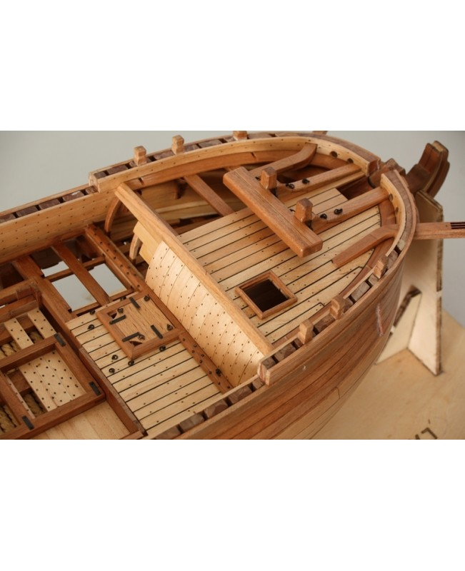 "HMS Enterprise Scale 1/48 840 mm 33"" Wood Ship Model Kit Complete Set"