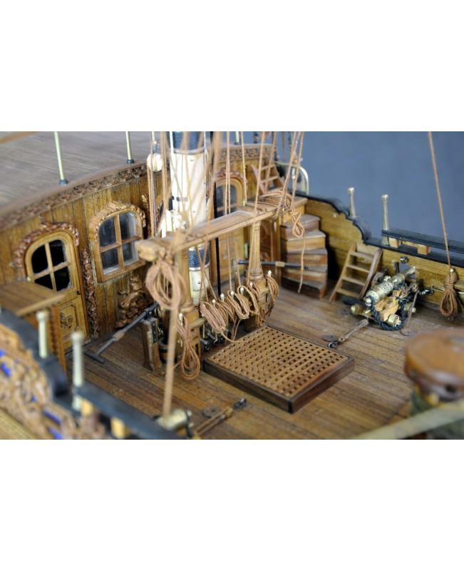 HMS Royal Caroline 1749 Boxwood carvings with mast 1/30 wooden model ship kits