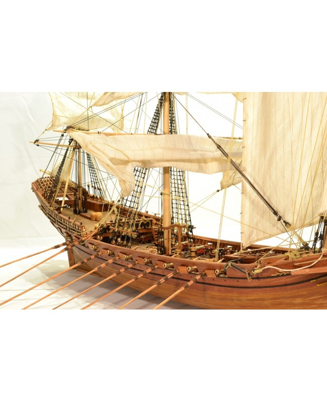 ZHL 2019 Version Misticque French Xebec 1750 wood model ship kits