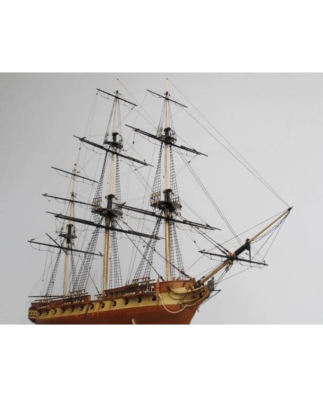 HMS Surprise Scale 1/75 925mm 36.4'' high end version Wooden Model Ship Kit and 4 lift boat