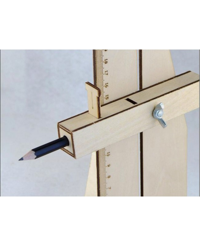Wooden scriber, suitable for the platform to draw the line tool hull