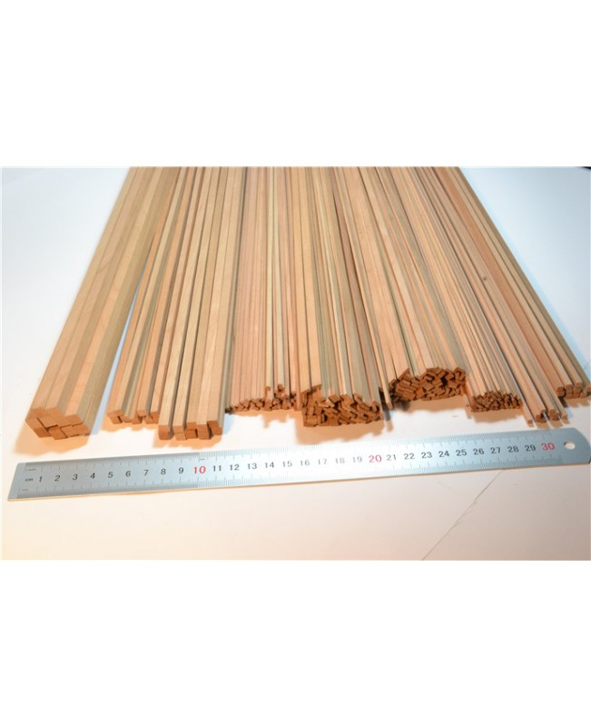 Cherry wood strips 0.6-2mm Thick 25 Pieces