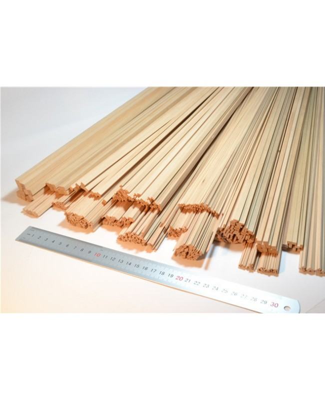 Pear wood strips 0.6-2mm Thick 25 Pieces