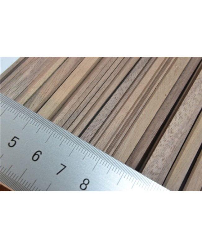 Black walnut wood strips 0.6-2mm  thick 25 pieces